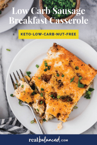 Low Carb Sausage Breakfast Casserole-03