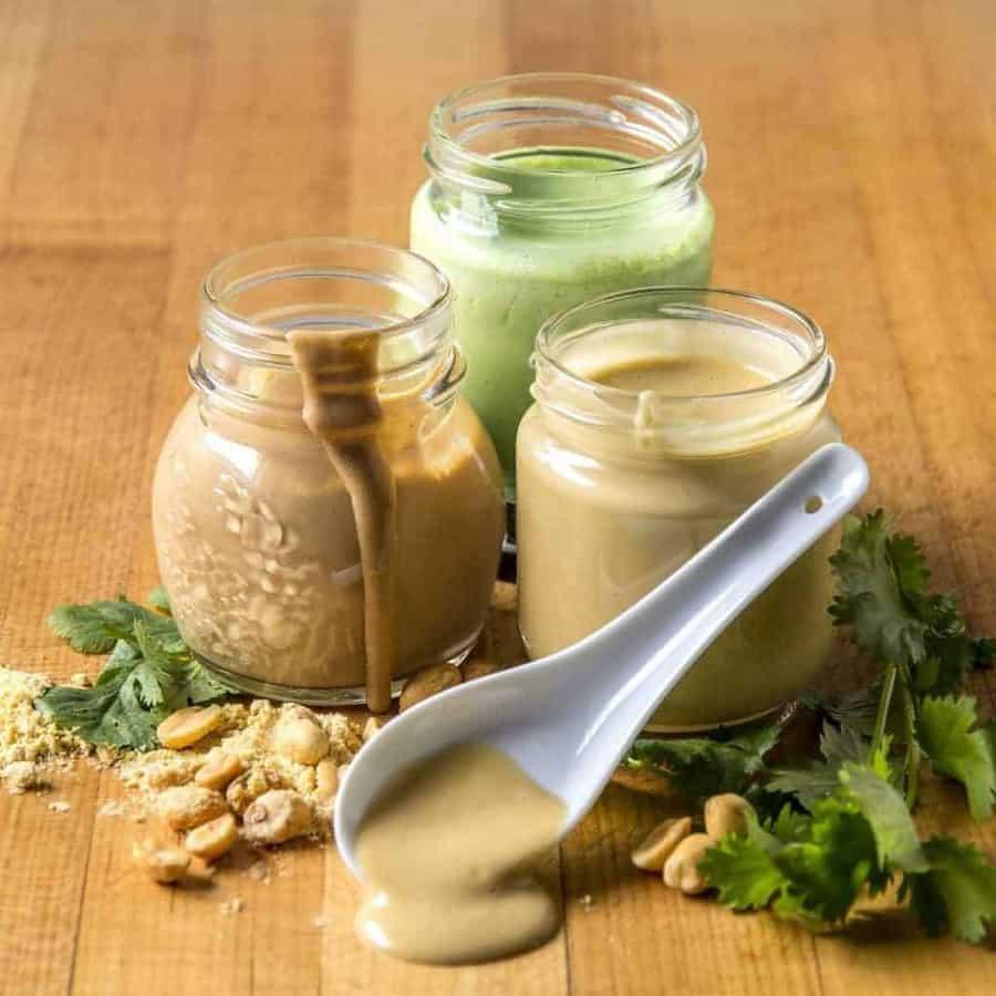 all purpose easy mustard keto salad dressing in jars