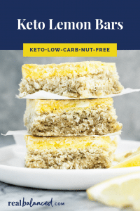 Keto Lemon Bars pinterest pin image