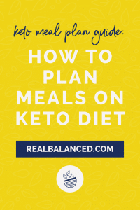 Keto Meal Plan Guide - How to Plan Meals on Keto Diet