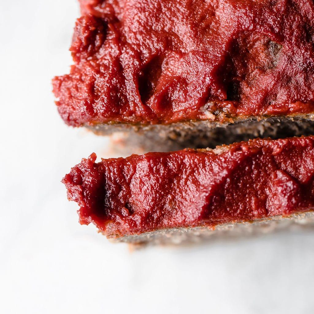 keto meatloaf sliced
