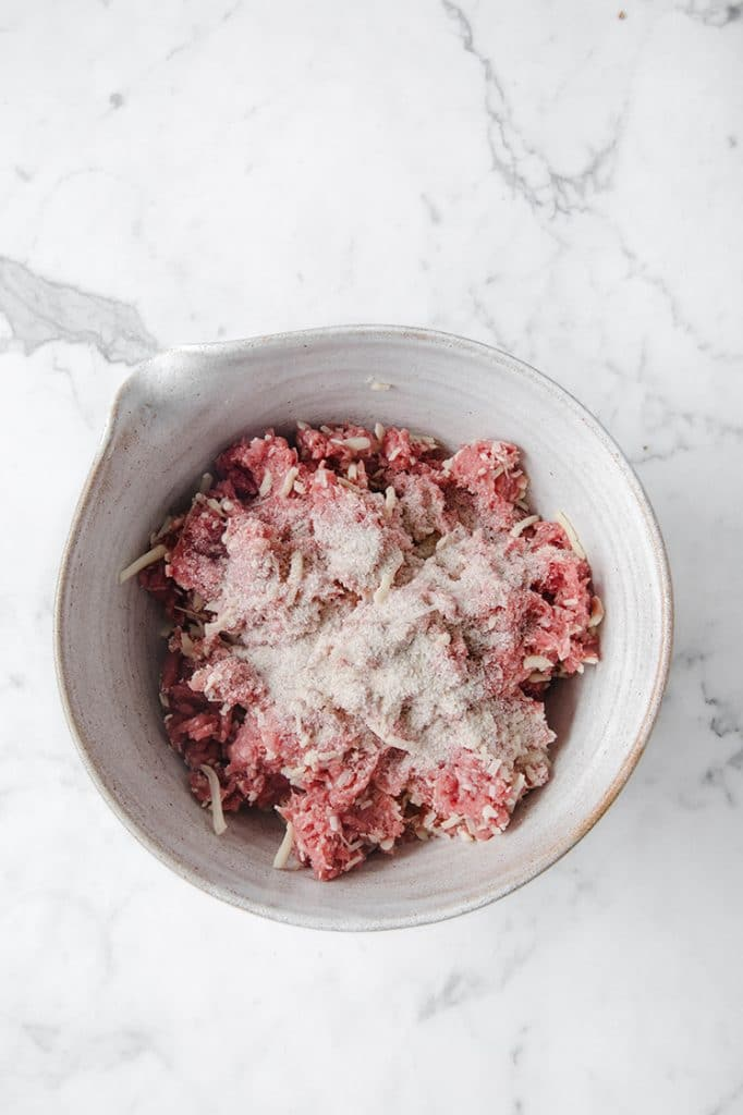 meatloaf raw mixture with psyllium husk powder