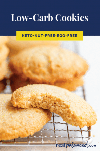 Low-Carb Cookies pinterest pin image