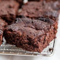 Keto Flourless Mocha Brownies
