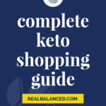 Complete Keto Shopping Guide pinterest pin graphic