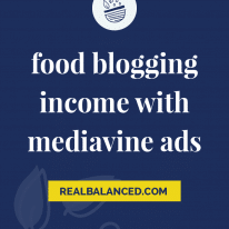 Food Blogging Income with Mediavine Ads