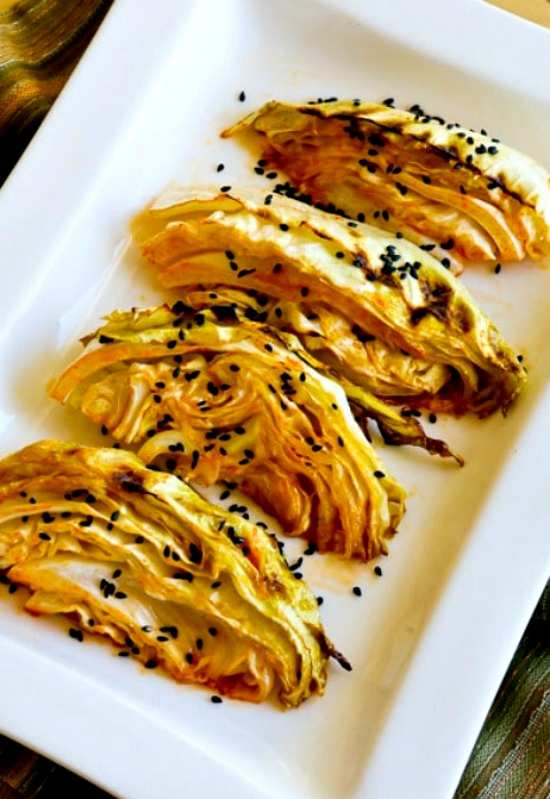 Low-Carb Roasted Cabbage with Lime and Sriracha