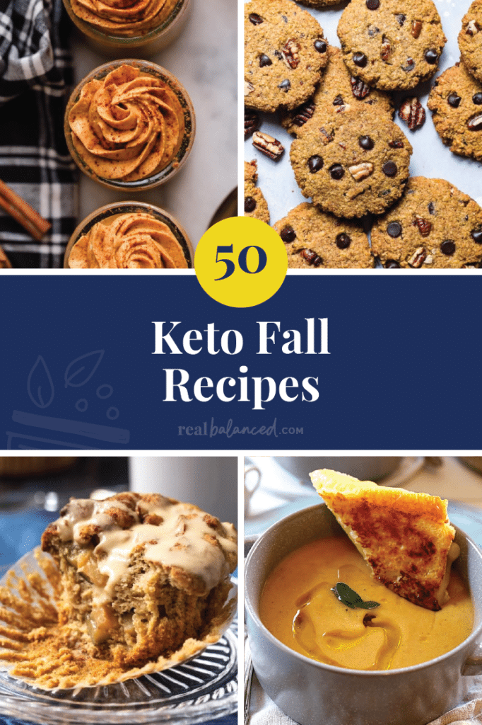 50 keto Fall Recipes Pinterst Pin Image