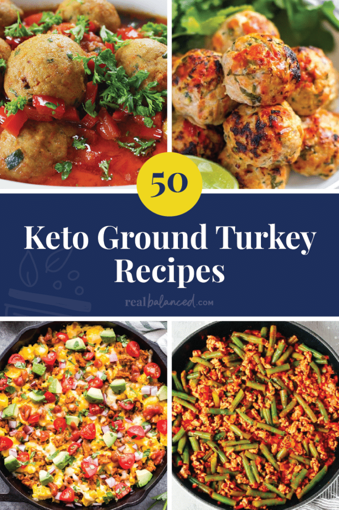 50 Keto Ground Turkey Recipes Pinterest Image