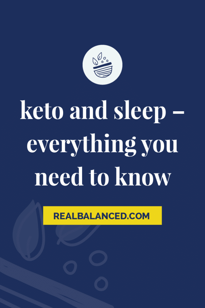 Keto and Sleep – Everything You Need To Know pinterest pin image