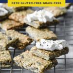 Nut Free Keto Crackers Pinterest pin image