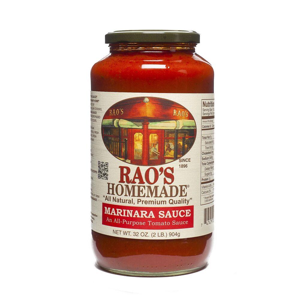 a jar of Rao's homemade tomato sauce