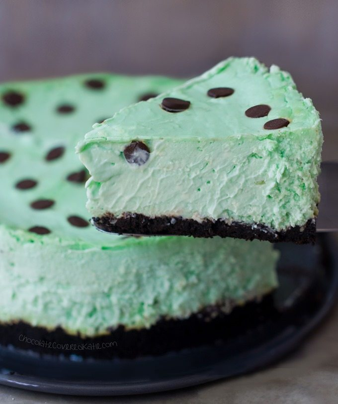 vegan keto Low Carb Thin Mint Cheesecake