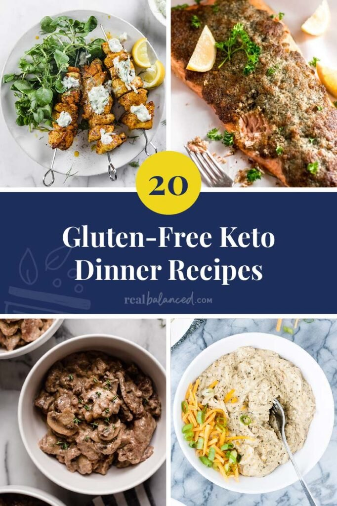 20 Glutten-Free keto Dinner Recipes Pinterest Pin image