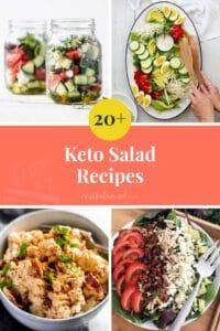 20+ Keto Salad Recipes Pinterest Pin Image