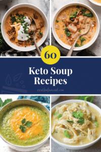 60 Keto Soup Recipes pinterest pin image