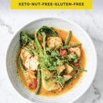 Keto Salmon Coconut Curry Pinterest Pin image
