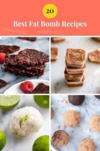 20 best fat bomb recipes pinterest pin image