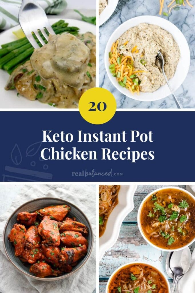 keto instant pot chicken recipes featured collage
