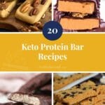 20 Keto Protein Bar Recipes yellow pinterest pin image