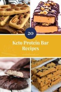 20 Keto Protein Bar Recipes yellow pinterest pin image
