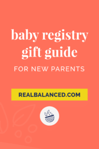Baby Registry Gift Guide for New Parents pinterest pin image