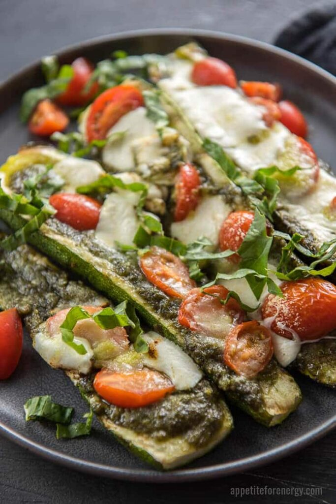 grilled-caprese-stuffed-zucchini-boats