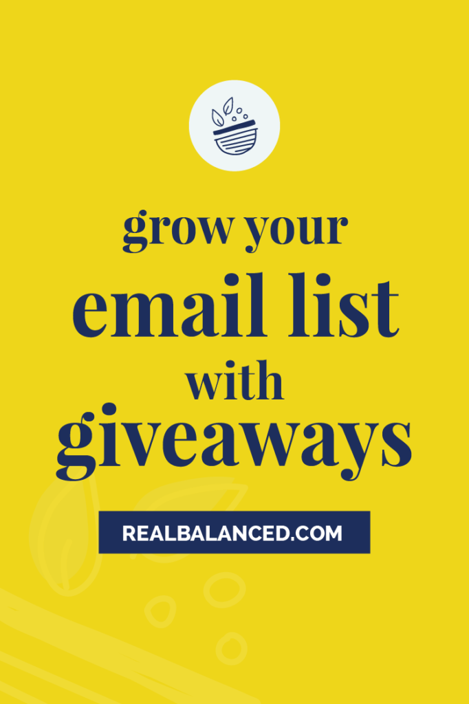 Grow Your Email List with Giveaways yellow featured image
