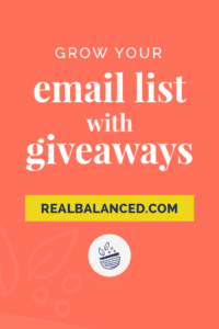 Grow Your Email List with Giveaways pinterest pin image