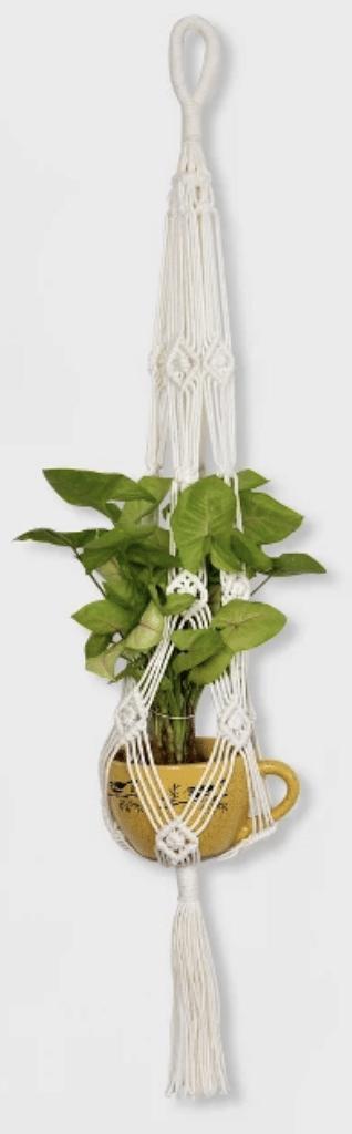 macrame plant holder for baby nursery