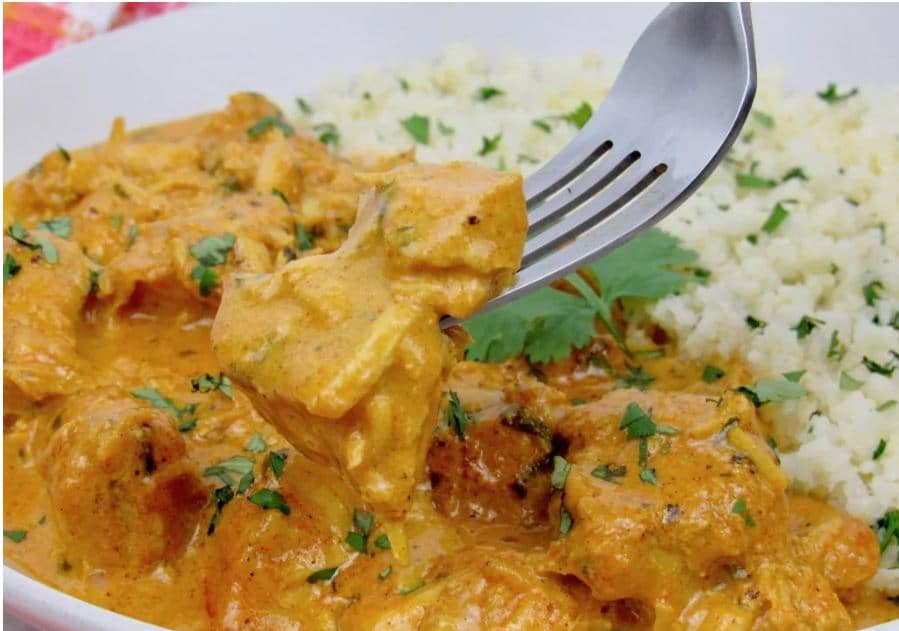 instant pot butter chicken closeup image