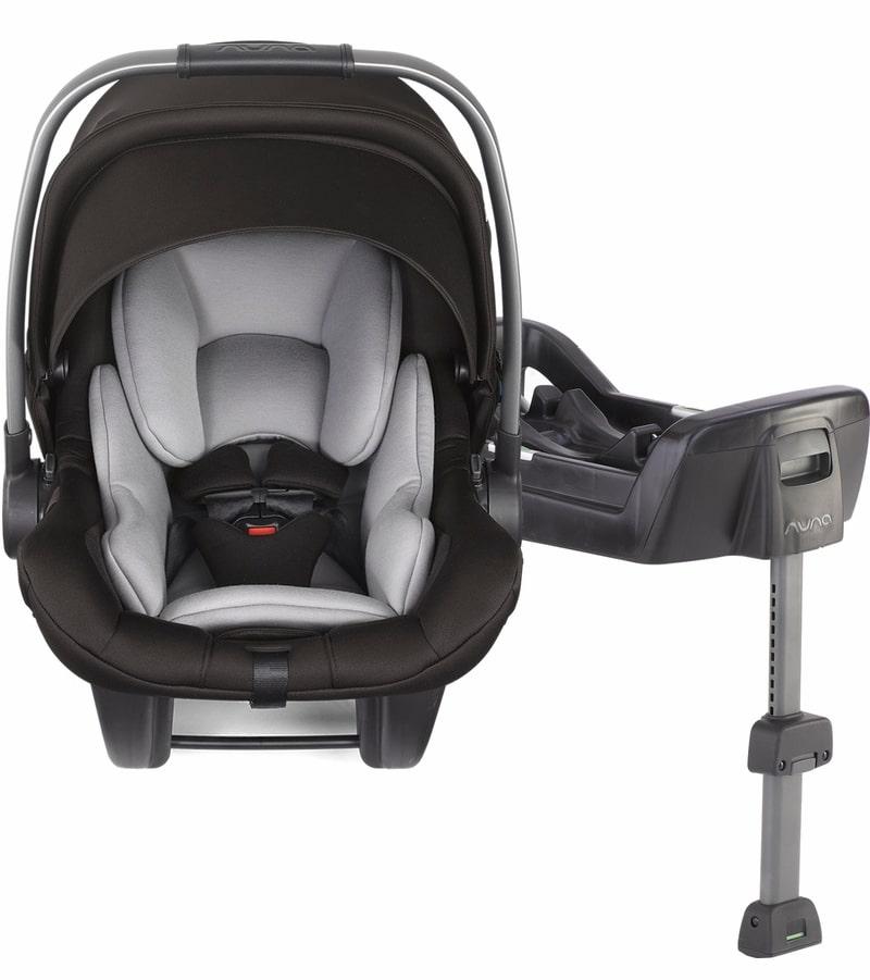 Nuna Pipa Lite LX Infant Car Seat in Caviar color