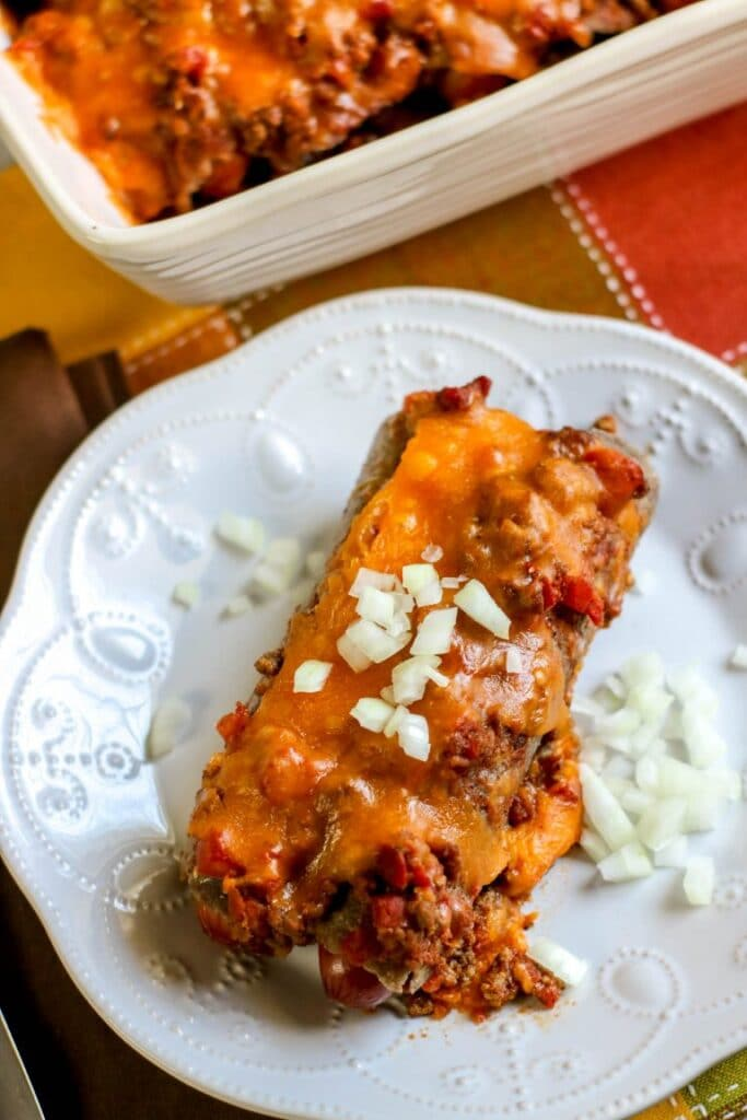 Chili-Cheese-Dog-Casserole-on-plate