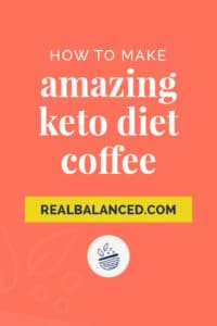 how to make amazing keto diet coffee pinterest pin image