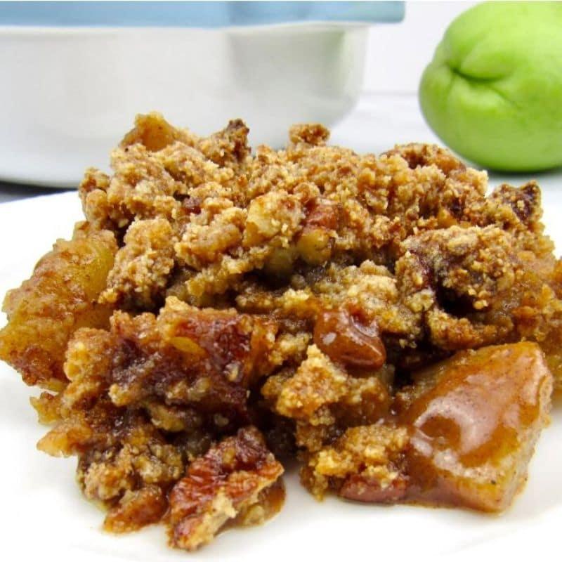 keto-thanksgiving-apple-crumble