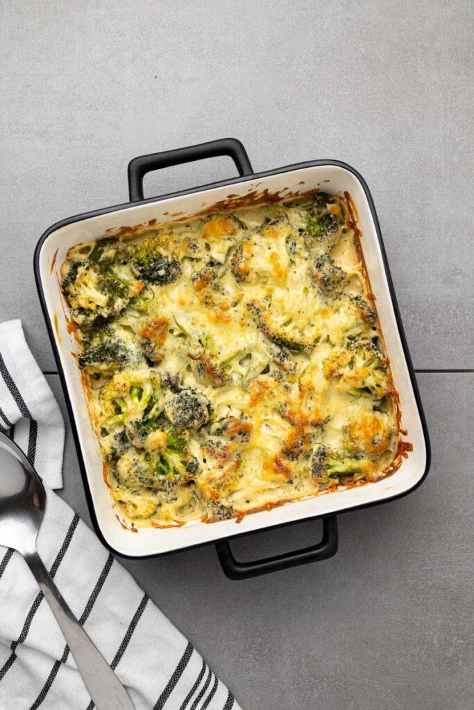 keto-broccoli-casserole-in-casserole-dish