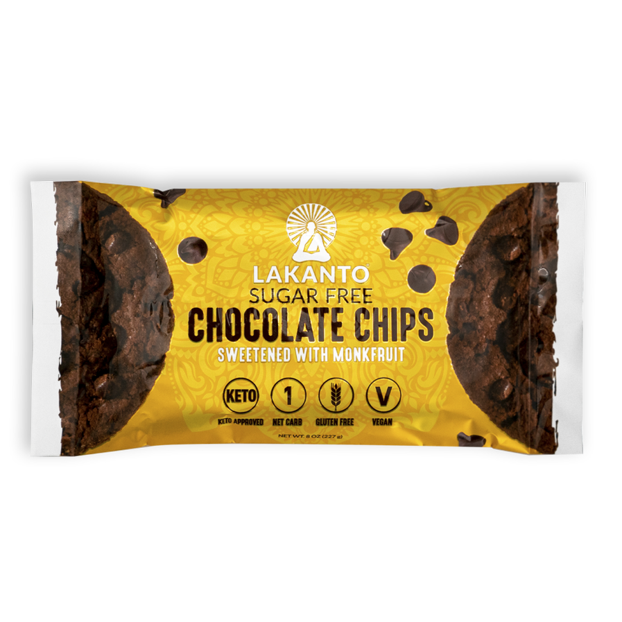 lakanto sugar free chocolate chips sweetened with monkfruit