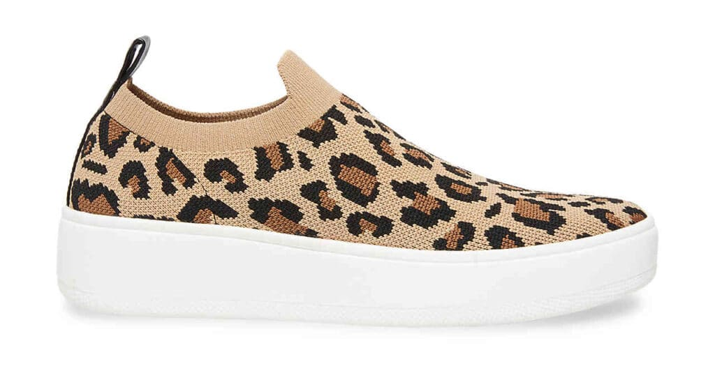slip on shoes in leopard print