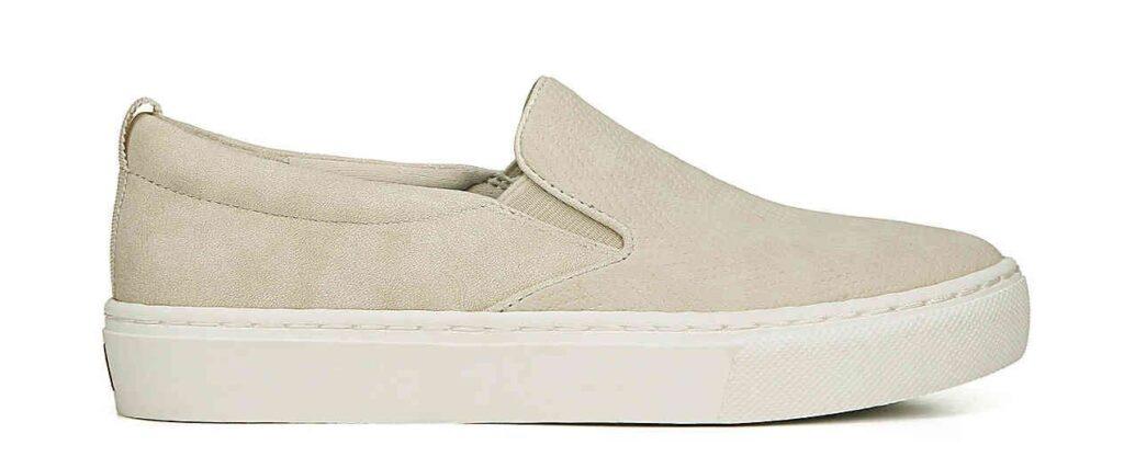 Platform Slip on Shoes in beige