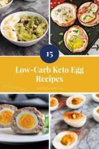 15 Low-Carb Keto Egg Recipes pinterest pin