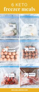 keto freezer meals featured image