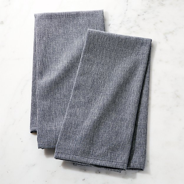 crate and barrel denim dish towels for food photography