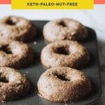 nut-free keto bagels pinterest pin image