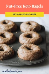 nut-free keto bagels pinterest pin image