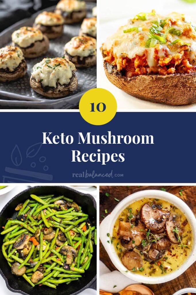 Best Keto Low Carb Mushroom Recipes blog post featured image