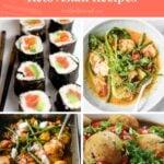 Easy Keto Asian Recipes Pinterest pin image