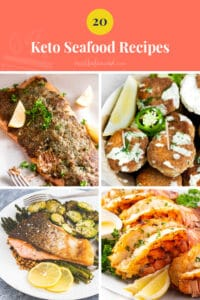 Best Low-Carb Keto Seafood Recipes pinterest pin image