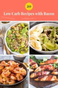 Best Low-Carb Keto Bacon Recipes pinterest pin image