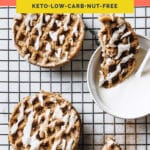nut-free keto chaffles pinterest pin image
