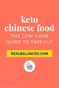 Keto Chinese Food the Low-Carb Guide to Takeout pinterest pin image